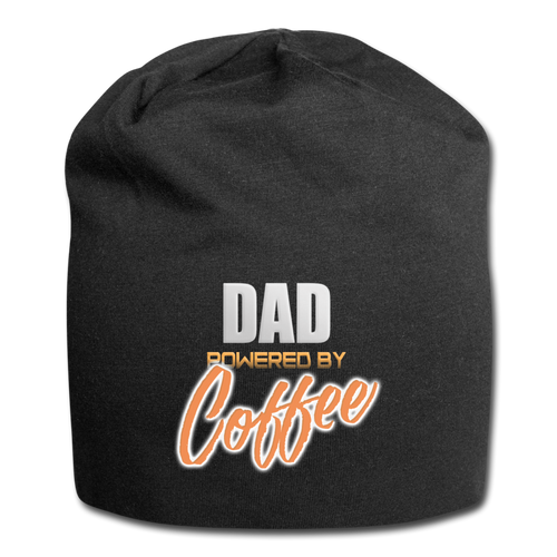 Dad powered by coffee - Jersey Beanie - Caffeination World