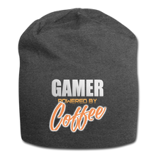 Load image into Gallery viewer, Gamer powered by coffee - Jersey Beanie - Caffeination World