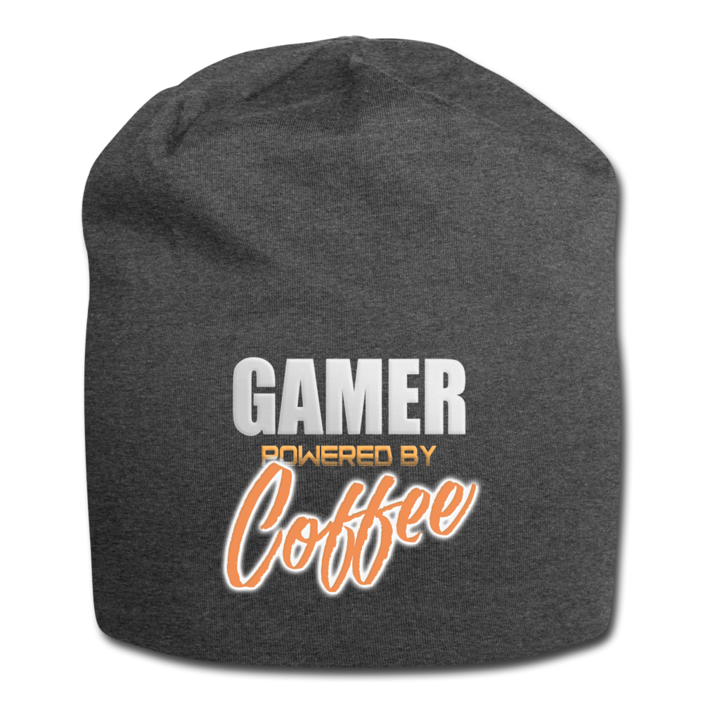 Gamer powered by coffee - Jersey Beanie - Caffeination World