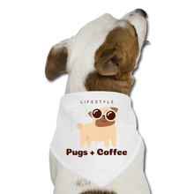 Load image into Gallery viewer, Lifestyle pugs & coffee - Dog Bandana - Caffeination World