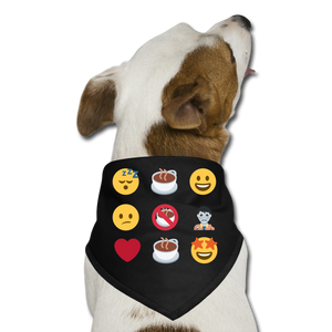 Coffee emojis - Dog Bandana - Caffeination World