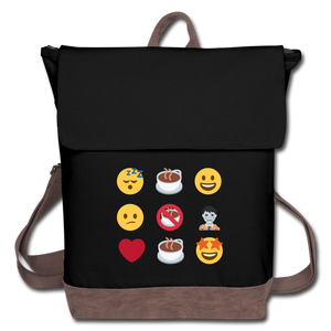 Coffee emojis - Canvas Backpack - Caffeination World