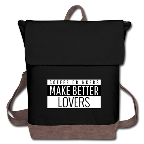 Coffee drinkers make better lovers - Canvas Backpack - Caffeination World