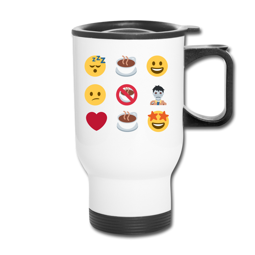 Coffee emojis - Travel Mug - Caffeination World