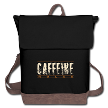 Load image into Gallery viewer, Caffeine rules - Canvas Backpack - Caffeination World