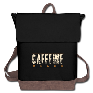 Caffeine rules - Canvas Backpack - Caffeination World