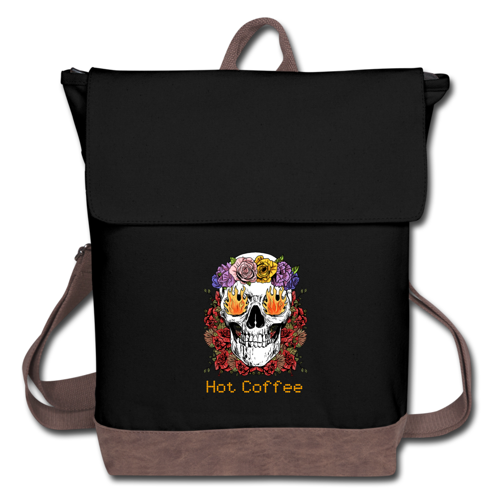 Hot coffee - Canvas Backpack - Caffeination World