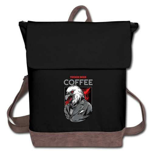 Tough boss coffee - Canvas Backpack - Caffeination World