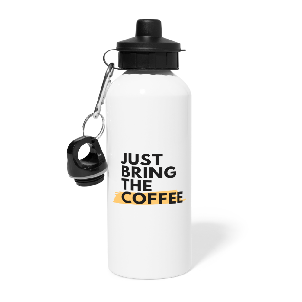 Just bring the coffee - Water Bottle - Caffeination World
