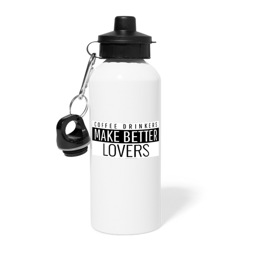 Coffee drinkers make better lovers - Water Bottle - Caffeination World