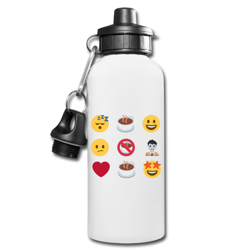Coffee emojis -Water Bottle - Caffeination World