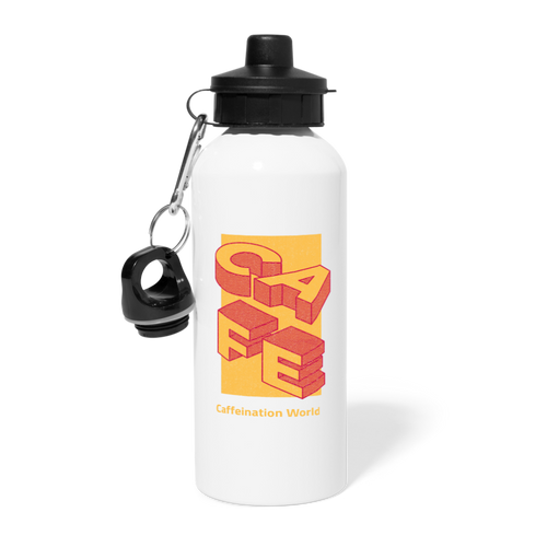 Cafe - Water Bottle - Caffeination World