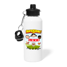 Load image into Gallery viewer, Awesome people love pets & coffee - Water Bottle - Caffeination World