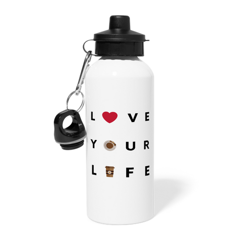Love your life - Water Bottle - Caffeination World