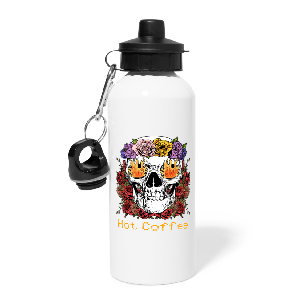 Hot coffee - Water Bottle - Caffeination World