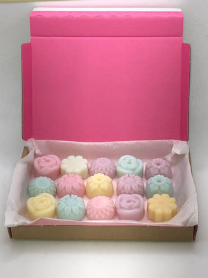 The ultimate in wax melt flower box only available in the fragrances listed.
