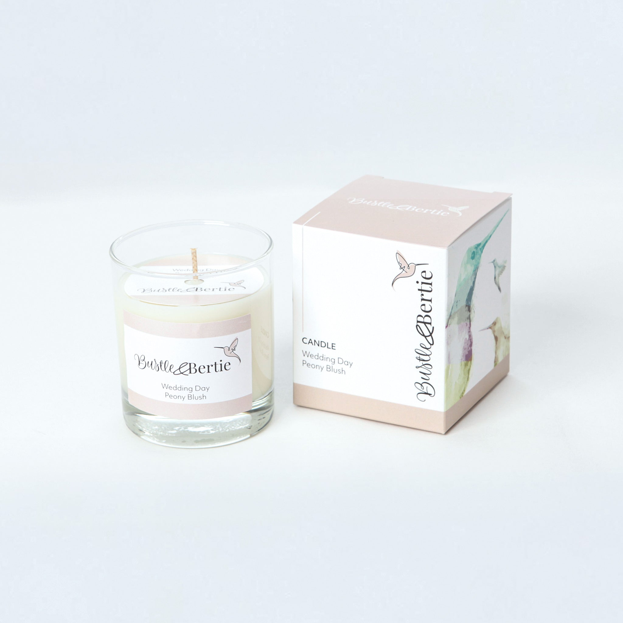 "Wedding day ""Peony and Blush"" Candle"