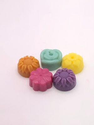 Multi coloured wax melts
