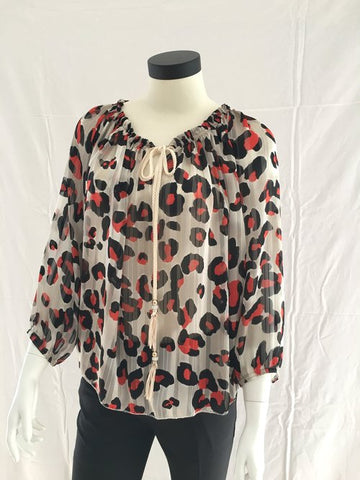 Blouse BLORO0009 Panter rood