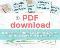 Natural Tinted Lip Balm Recipe