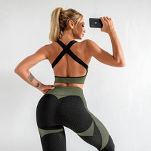 Load image into Gallery viewer, Jacquard Seamless Sports Bra