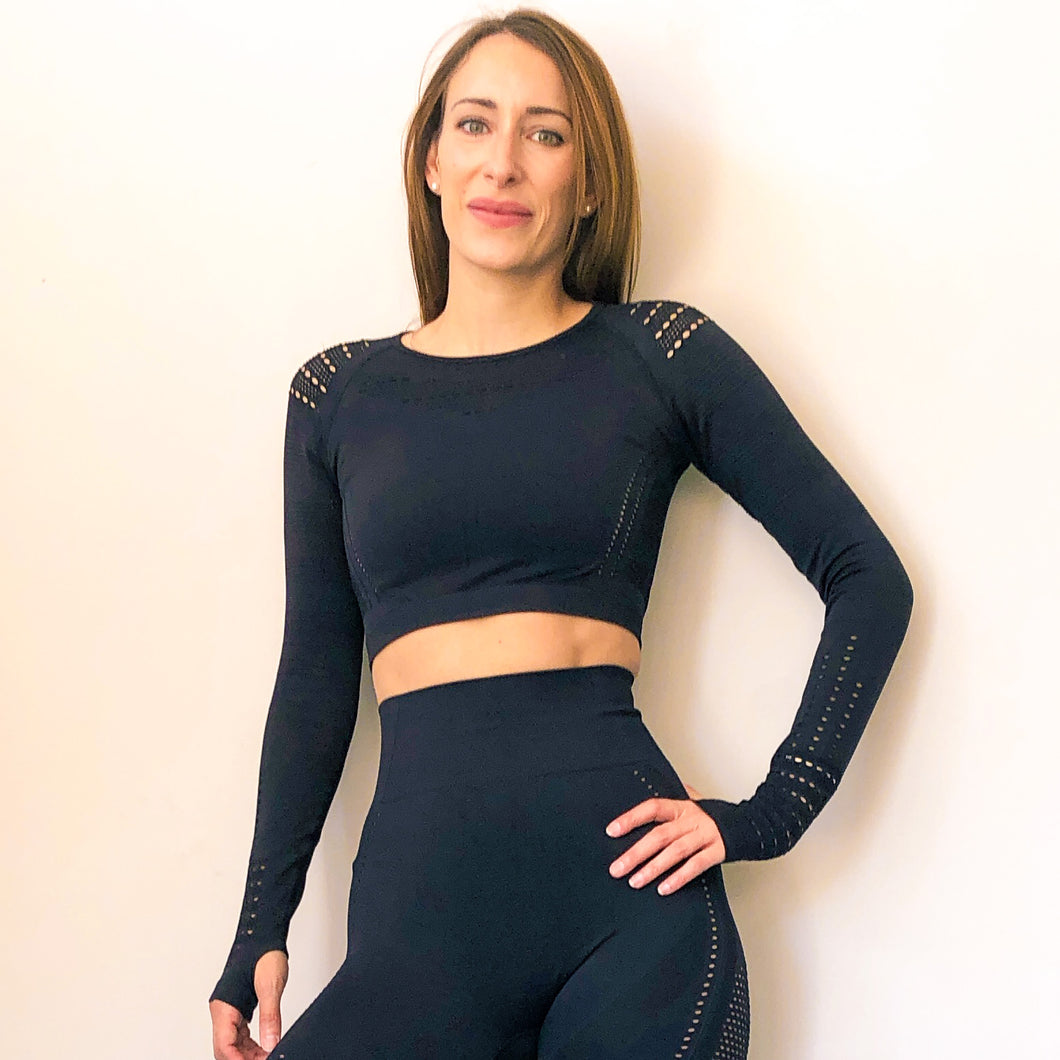 Mesh Performance Crop Top