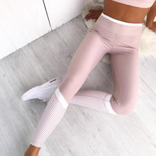Load image into Gallery viewer, Pink Stripe Leggings