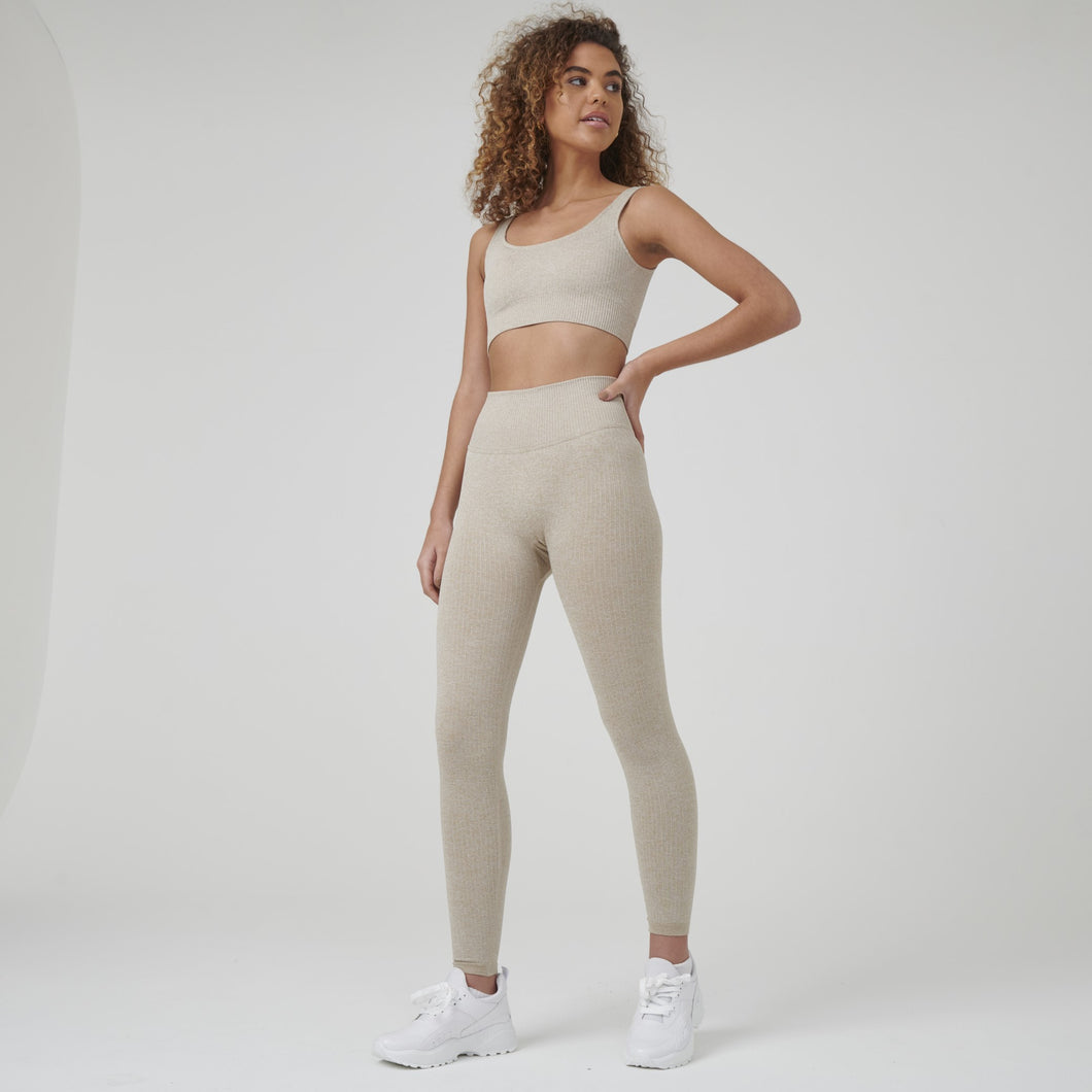 Signature Ribbed Seamless Set (Leggings + Top)