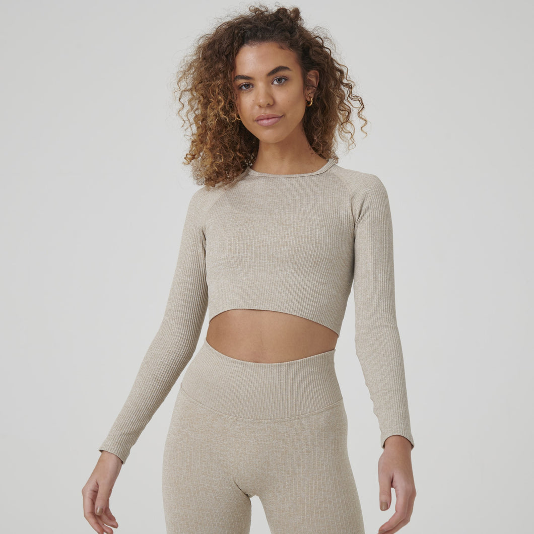 Signature Ribbed Seamless Long Sleeve Top