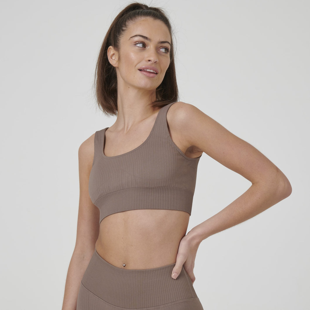 Signature Ribbed Seamless Crop Top