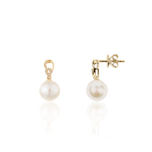 Tina Lux 18K Yellow Gold/ Pearl Diamond 0.03ct