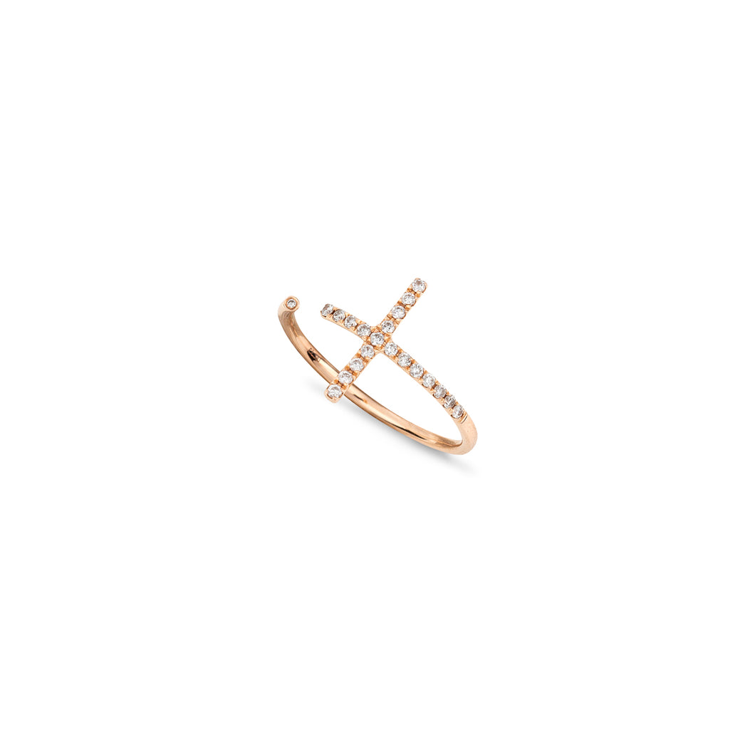 Lisou 18K Rose Gold VS Diamond 0.15ct open ring