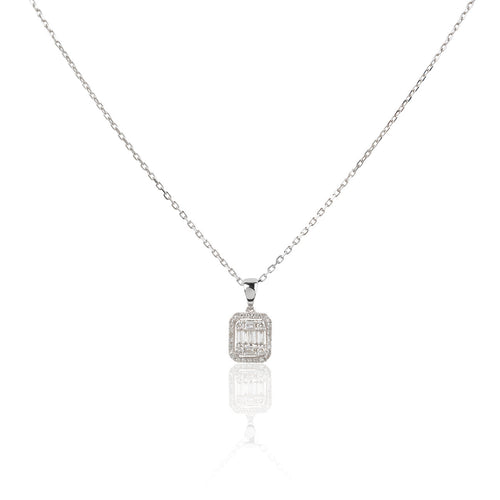 ELLA 18K White Gold Diamonds 0.19ct Pendant