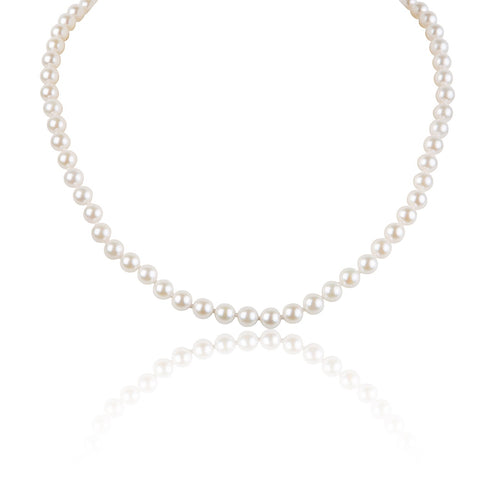 Grace Japanese Akoya Pearls White -Strand Necklace
