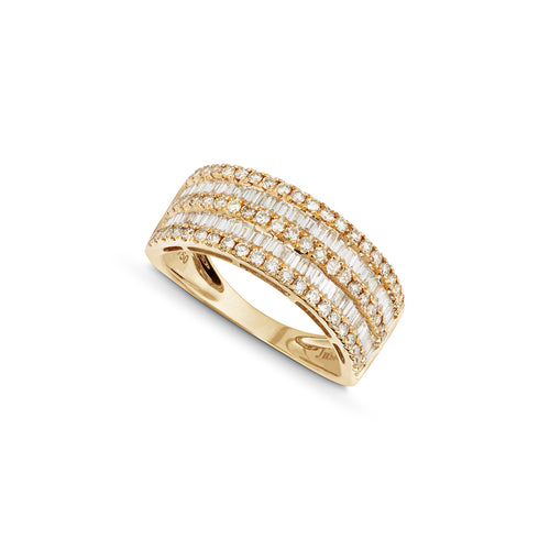 <transcy>LuLu Lux 18 Karat Gelbgold Half Set Diamond 0.52ct</transcy>