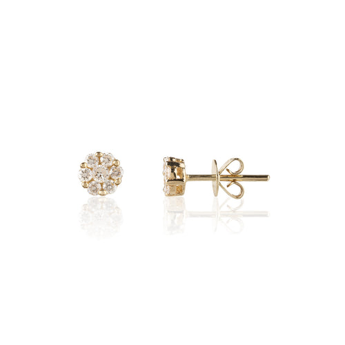 <transcy>Orecchini JustLise in oro 18 carati e diamanti 0,25 ct</transcy>