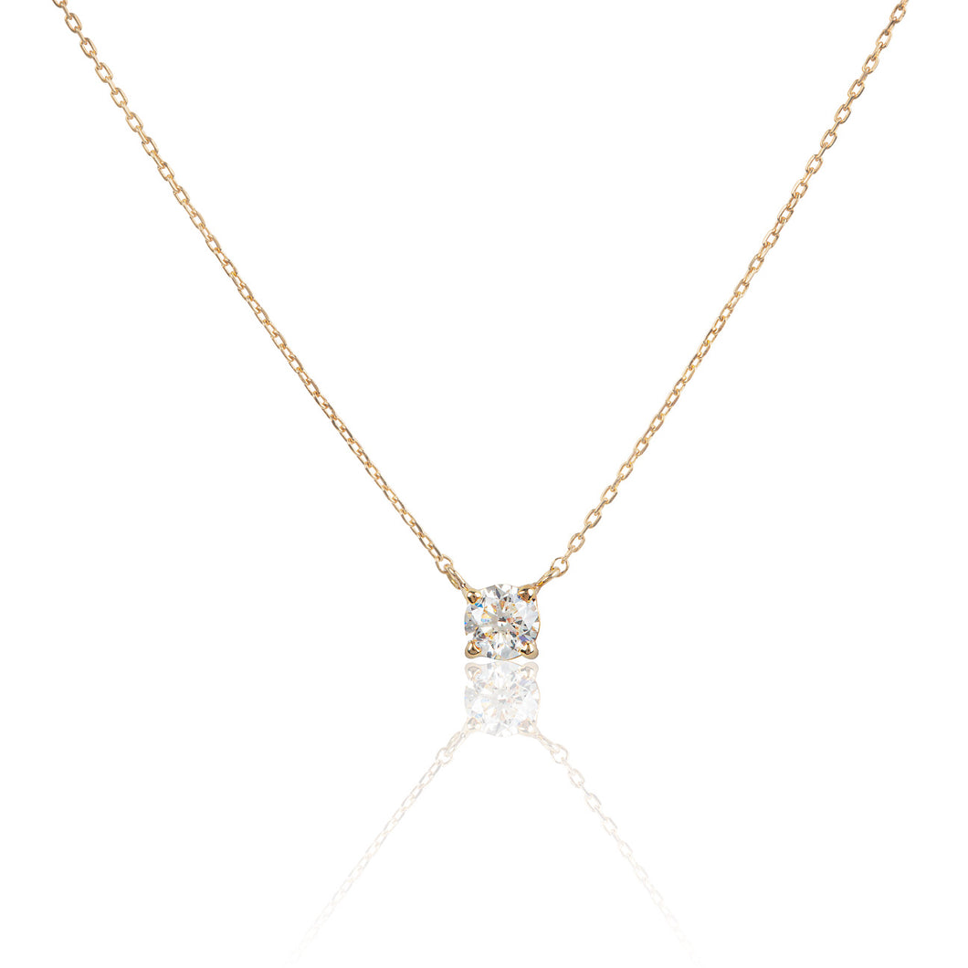 The JustLise Solitaire Diamond 0.38ct/SI2  18K Yellow Gold with Certificate