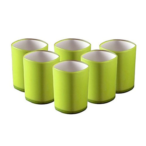 Wondercraft Servin Glass Set, 260ml, 6-Pieces (Green) - CRODOR Wholesale