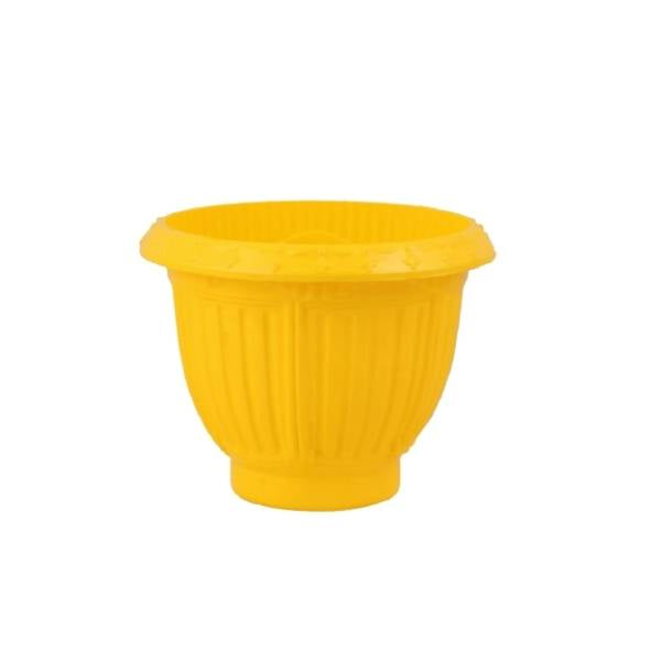 Champion 6 Inches (Yellow) Flower Pot (48 Pieces)