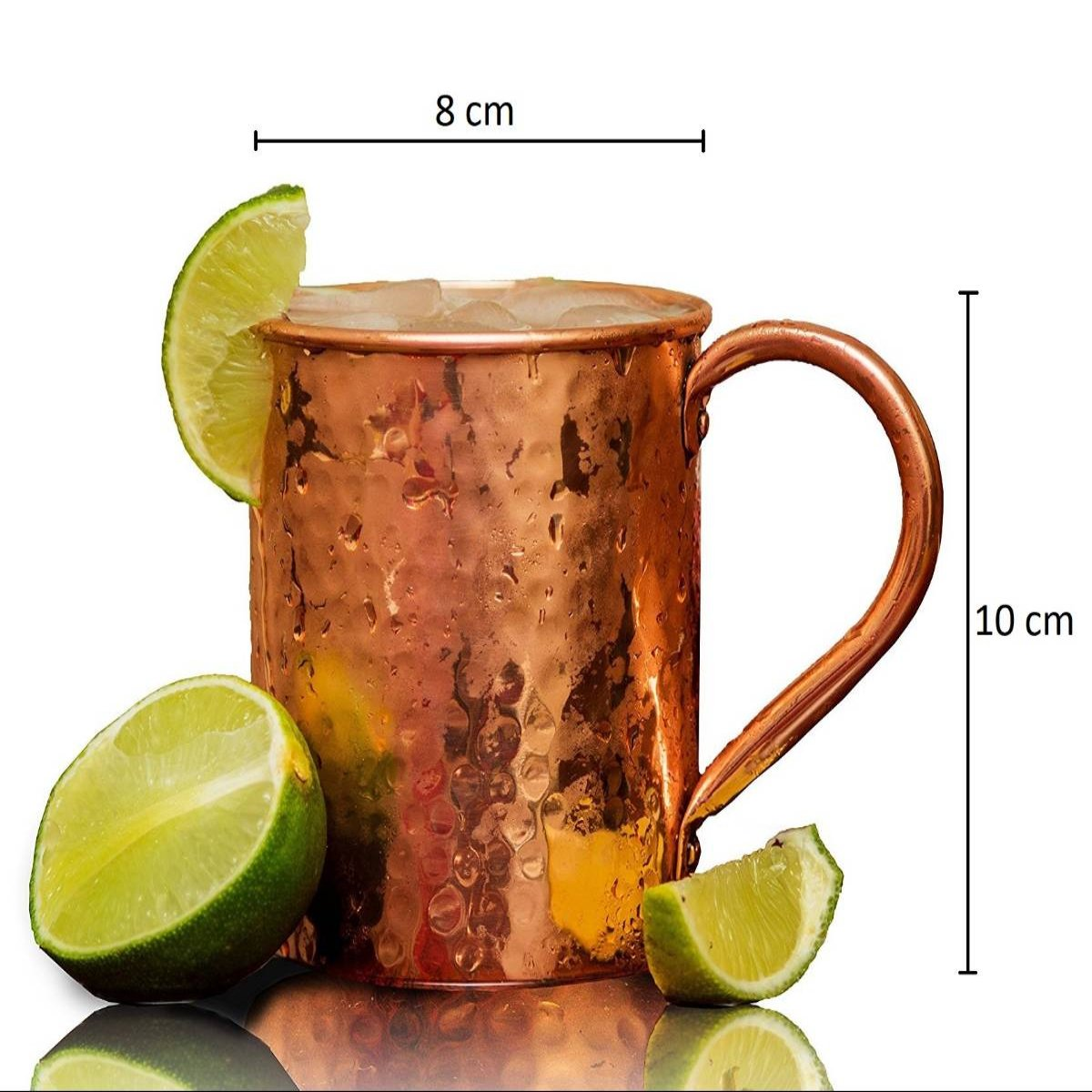 Copper Mug (Flat Hammered)