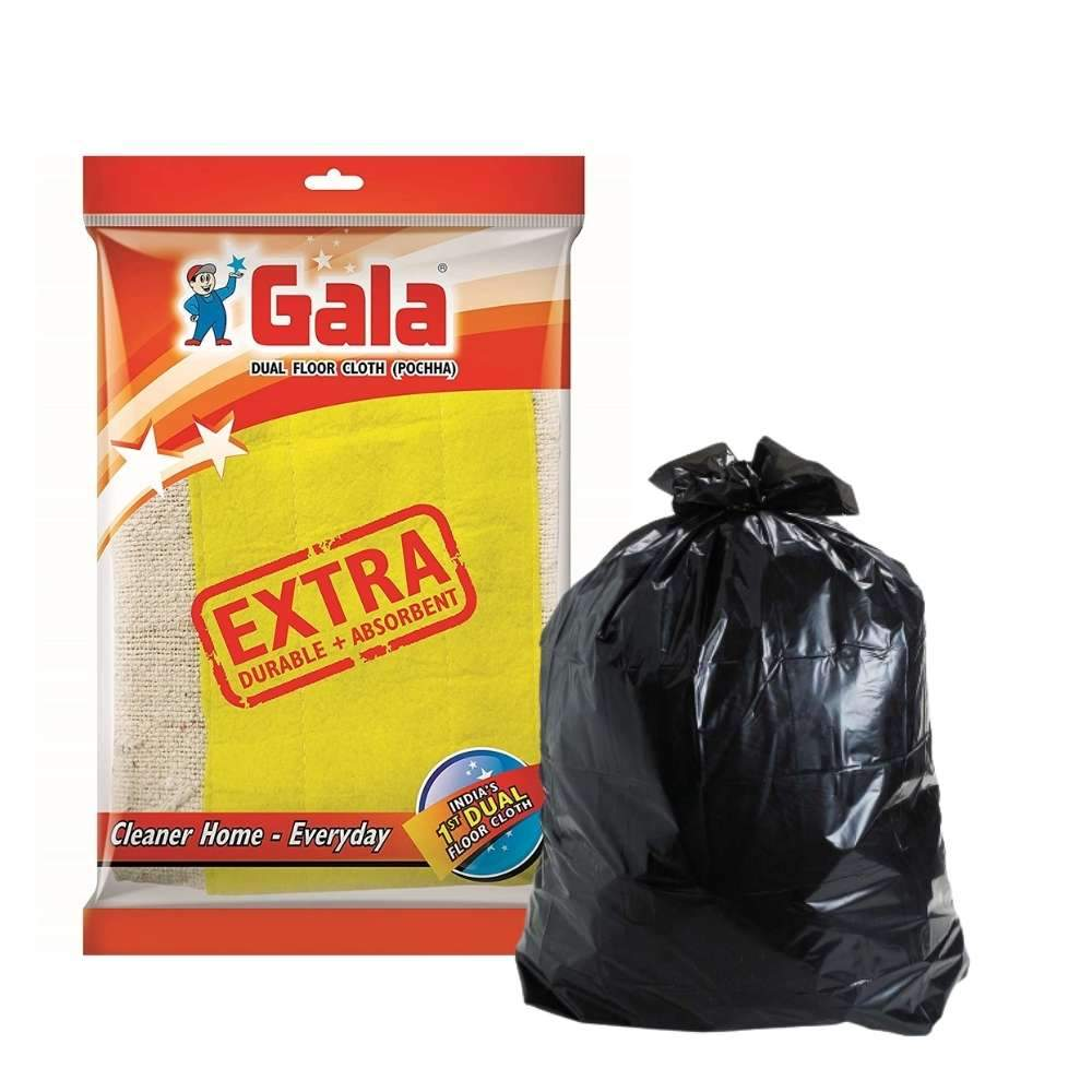 Dual Floor Cloth With Garbage Bags