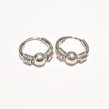 Blint Silver Hoops (Bali) for Women & Girls (Pure 925 Sterling Silver) (2.300 gms)
