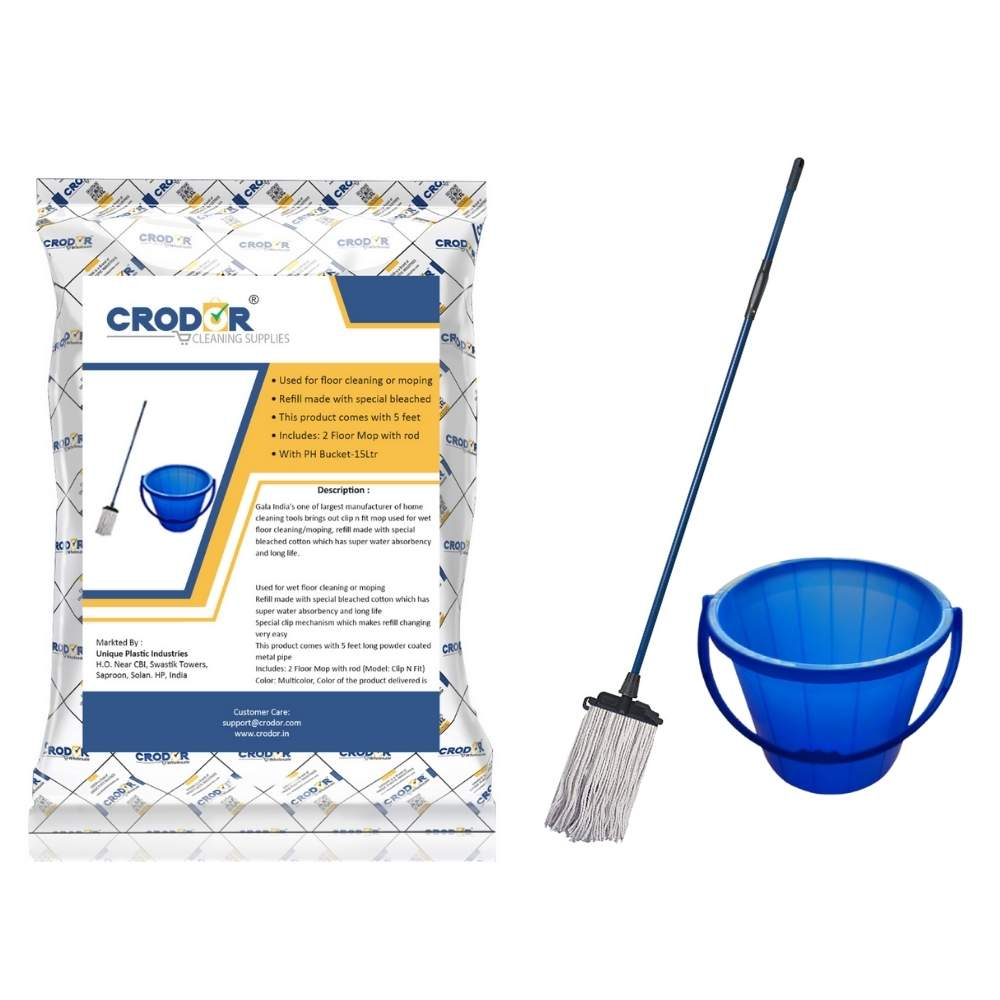 Gala Clip N Fit Mop +15 litre bucket (Combo deal)