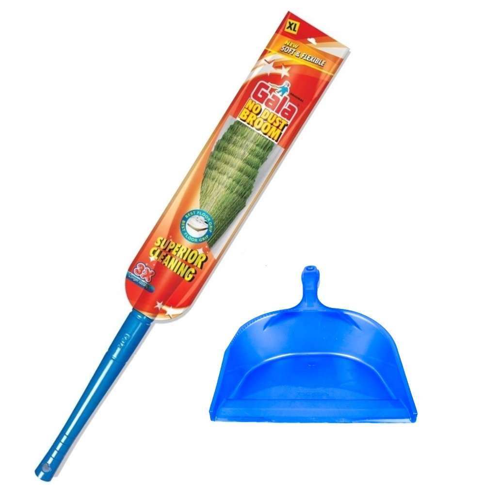 Gala No Dust Broom (Large) + Dustpan (Combo Deal)