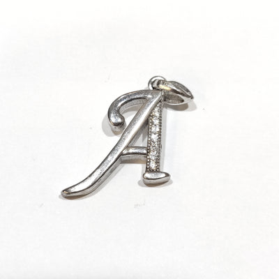 Blint Silver Pendant (Alphabet A) for Women & Girls (Pure 925 Sterling Silver) (2.400 gms)