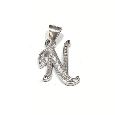 Blint Silver Pendant (Alphabet N) for Women & Girls (Pure 925 Sterling Silver) (1.200 gms)