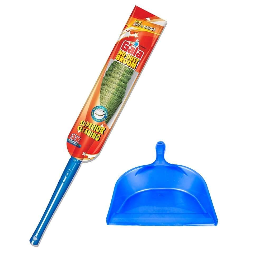 Gala No Dust Broom With Dustpan