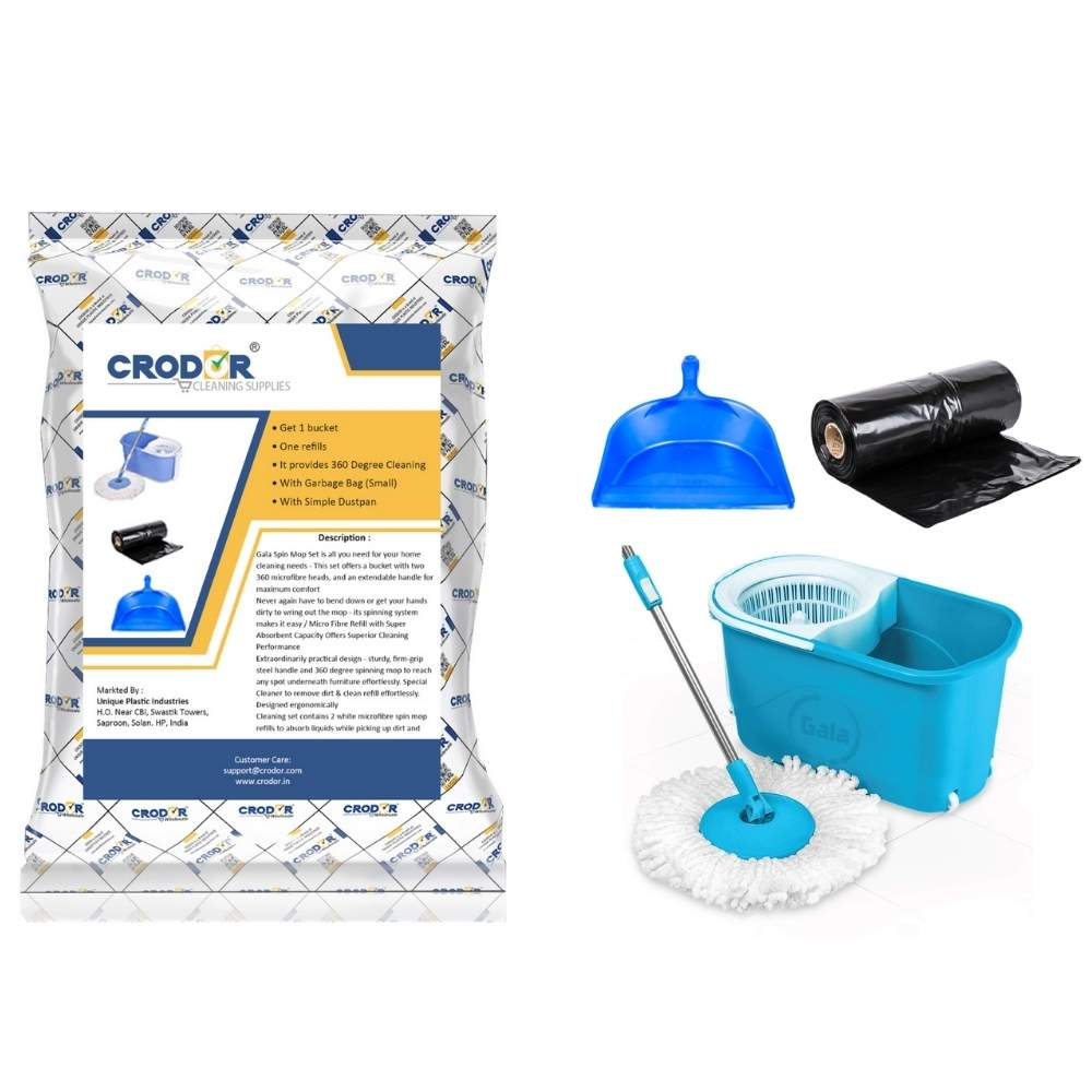 Gala Spin Mop (Smarty) + Garbage bag + Dustpan (Combo deal)