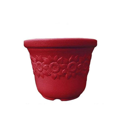 Sunny (17 Inches, Red) Flower Pot (3 Pieces)