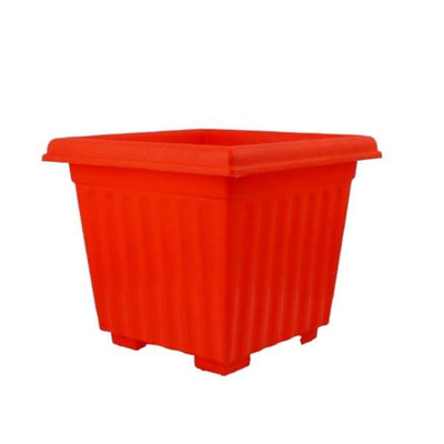 Super (10 Inches, Orange) Flower Pot (18 Pieces)